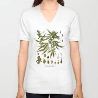 cannabis V-neck T-shirts featuring Cannabis by jbjart