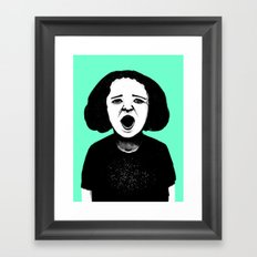 Cutout Turquoise Framed Art Print