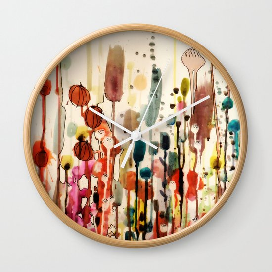 Ouvrir une fenetre wall clock by sylvie demers society6 for Ouvrir fenetre dos windows 7
