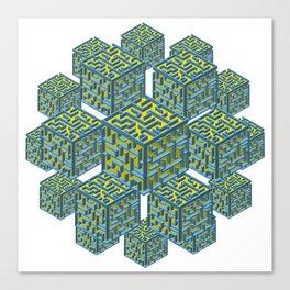 Cubed Mazes Canvas Print