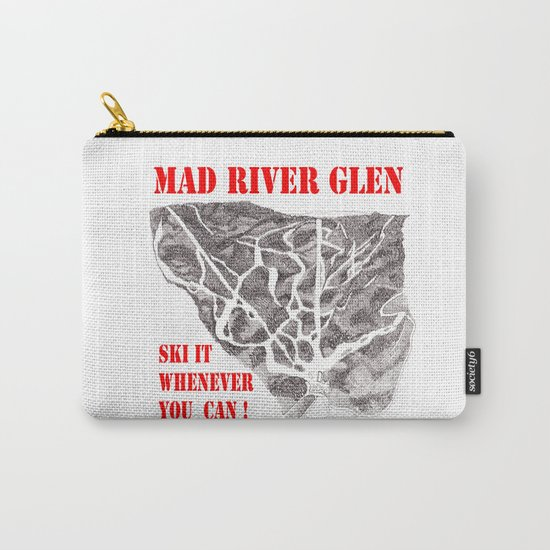 Mad River Glen Vermont, Ski it Whenever You Can! Illustration Carry-All Pouch