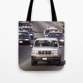 OJ Simpson Car Chase Tote Bag
