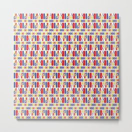 Colorful geometric textile and surface design Metal Print