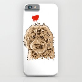 Cute I Love My Goldendoodle Gift Golden Doodle Print iPhone Case