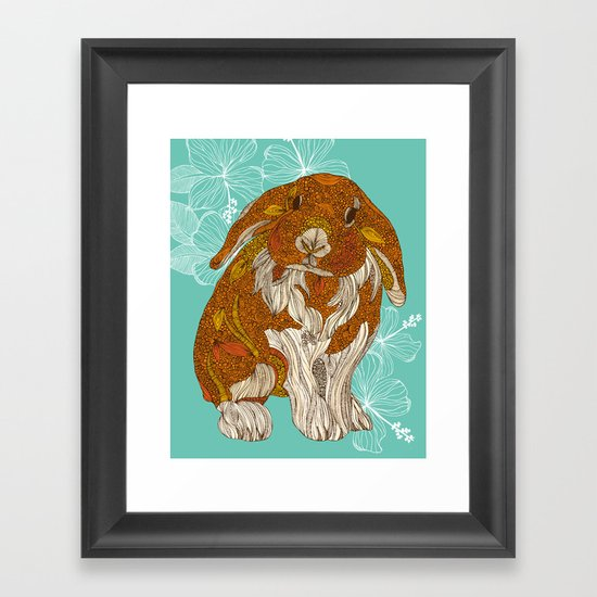 Hello little bunny Framed Art Print