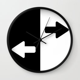 Left or Right Wall Clock