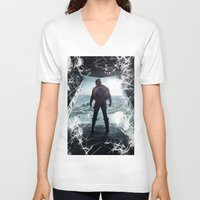 steve rogers V-neck T-shirts featuring Steve Rogers 002 by TheTreasure
