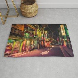 Deserted Japan Street/ Anthony Presley Photo Print Rug