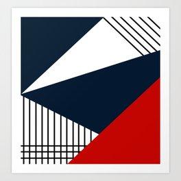 Abstract geometric pattern Lola 2 Art Print