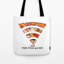 FREE PIZZA AND Wi-Fi Tote Bag