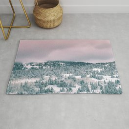 Blush Sky in Woodland Heights Rug