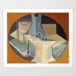 "Juan Gris ""Raisins, carafe et livre (Grapes, jug and book)"" Art Print"