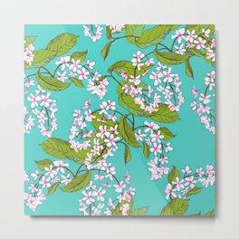 Bird cherry, spring pattern Metal Print