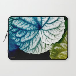 Blue Leaf Abstract Art Laptop Sleeve