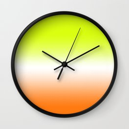 Lemon Drop Ombre Wall Clock