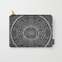 Zentangle Mandala Black and White Carry-All Pouch