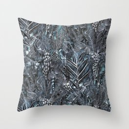 Busy Forest Print Throw Pillow