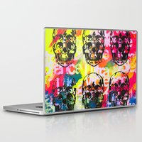 ultraviolence Laptop & iPad Skins featuring Ultraviolence 4i skull - mixed media on canvas by kakin