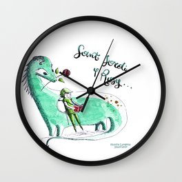 Sant Jordi y Rosy Wall Clock