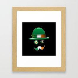 Irish Flag Face. Framed Art Print