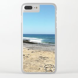 Sandy Shore Clear iPhone Case
