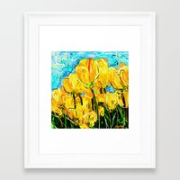 tulips Framed Art Prints featuring Tulips  by sladja