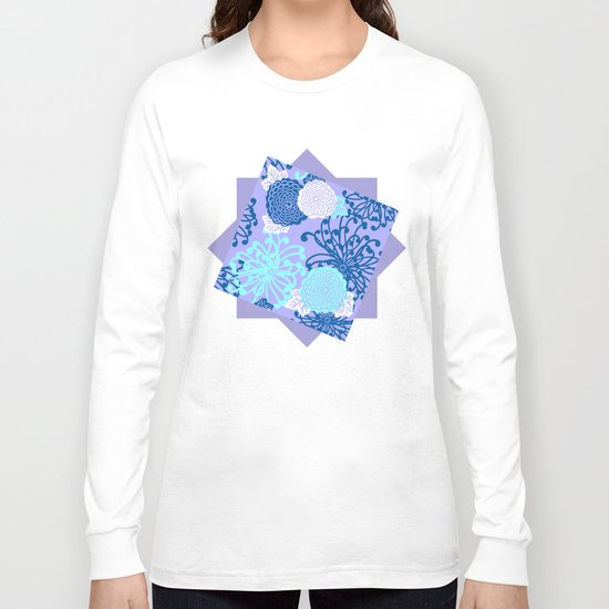 Art Deco Flowers Long Sleeve T-shirt