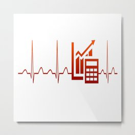 ACCOUNTANT HEARTBEAT Metal Print