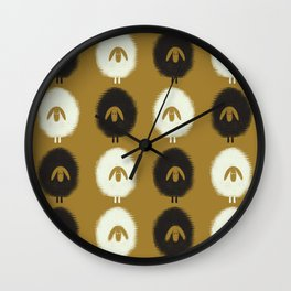 Sheep ochre Wall Clock