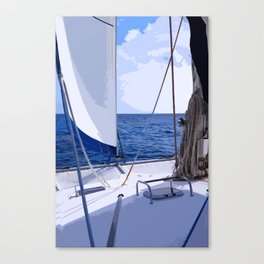 Sailing Winds - Sailing the Caribbean Canvas Print