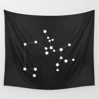 sagittarius Wall Tapestries featuring Sagittarius by Alisa Galitsyna