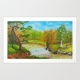 Family of Trees Art Print