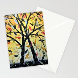 Abstract Art Landscape Original Painting ... New Day Dawning Stationery Cards