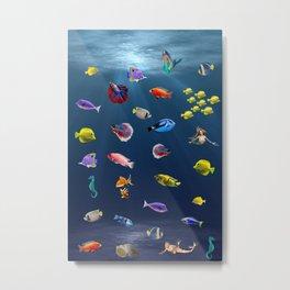 Under Water Life Metal Print