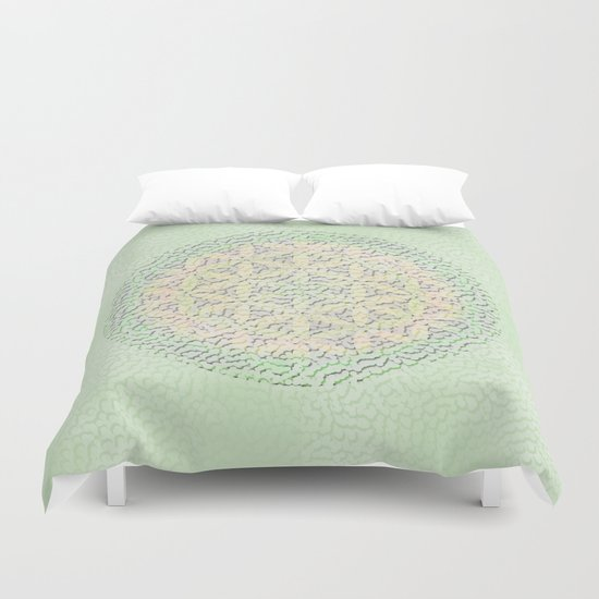 Flower of Life Mandala Duvet Cover
