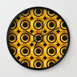 Art Deco-Like Pattern: 24-Karat Gold Casino Winning Chips Wall Clock