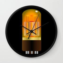 Glowing Amplifier Valve Wall Clock