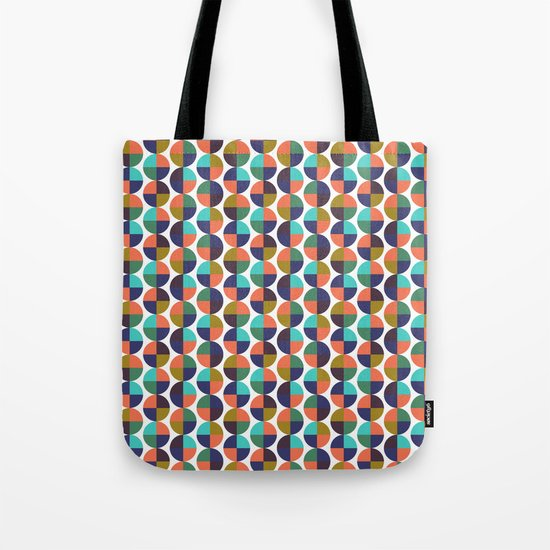 mod circles pattern Tote Bag