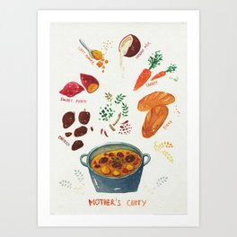 mother's curry  Art Print