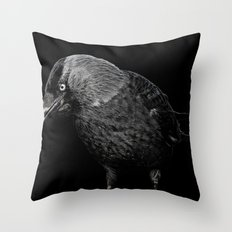 crow Throw Pillow