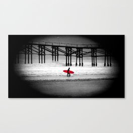 Red Surfboard Canvas Print