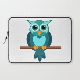 Blue Chibi Owl Laptop Sleeve