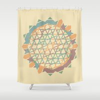 fractal Shower Curtains featuring Fractal by Zach Terrell