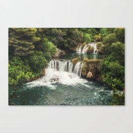 Krka National Park - waterfall Skradinski buk in Croatia Canvas Print