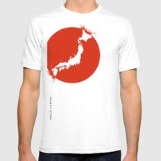 Save Japan! Mens Fitted Tee White MEDIUM