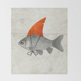 Goldfish with a Shark Fin Throw Blanket