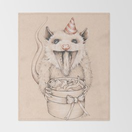 Birthday Possum's Favorite Gift Throw Blanket