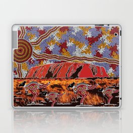Uluru (Ayers Rock) Authentic Aboriginal Art Laptop & iPad Skin