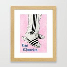 Las Chanclas Framed Art Print