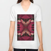 baroque V-neck T-shirts featuring BAROQUE by Mike Maike